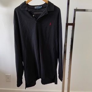 Polo Ralph Lauren Long Sleeve Collared Shirt Black
